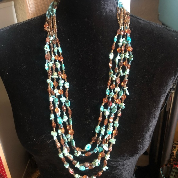 Chico's Jewelry - Island Feel Chico's Beaded Layers Necklace
